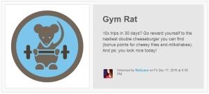 Gym rat badge