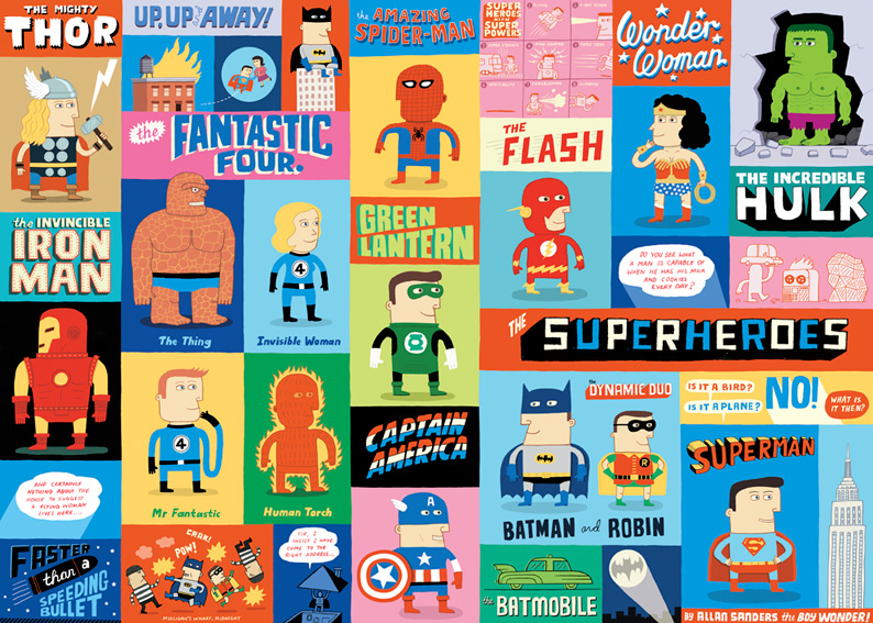 Los superhéores de Allan Sanders