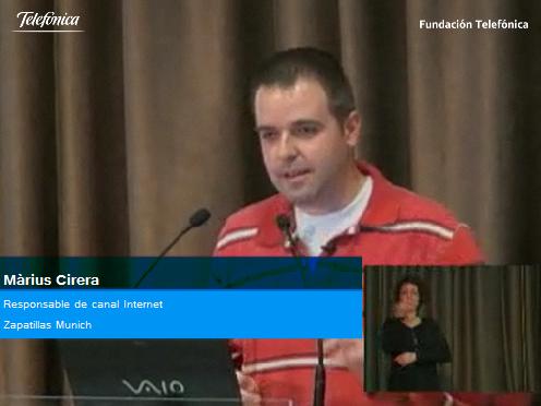 Marius Cirera, responsable del canal internet de Zapatillas Munich