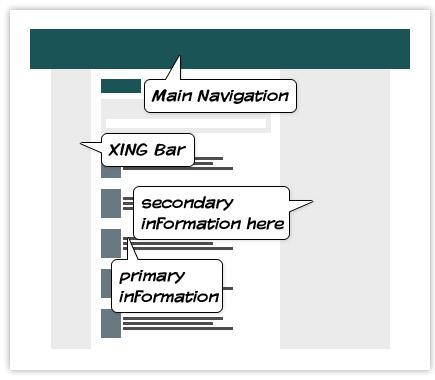 Nuevo XING: claridad y uso intuitivo