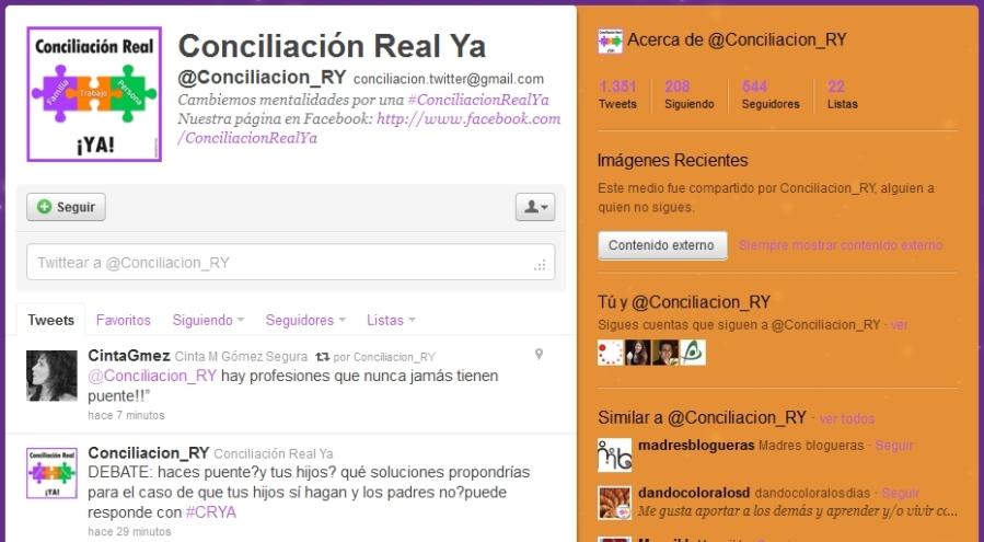 Twitter de Conciliación Real Ya