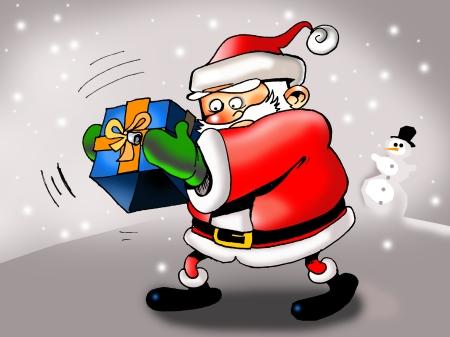 Papa Noel sin regalos. © Juan Luis Muñoz López. Todos los derechos reservados