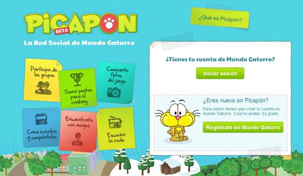 PICAPON, la primera red social para niños de 6 a 12 años