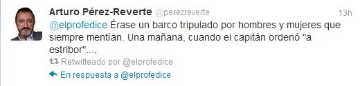 Arturo Pérez-Reverte inaugura la actividad #DiaDelLibro