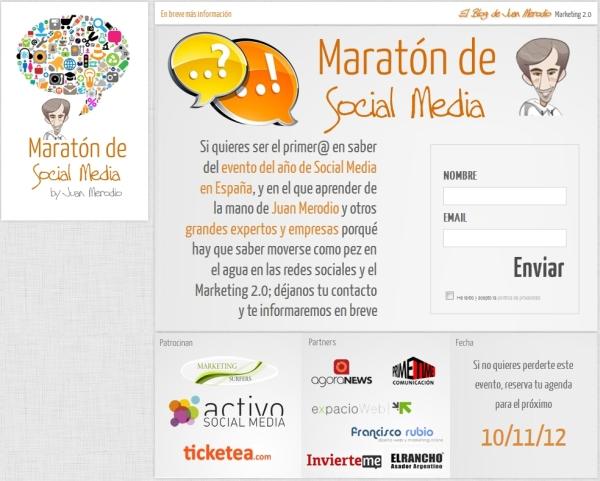 Web Maratón de Social Media