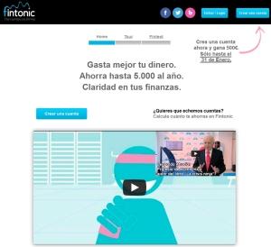 Página web de Fintonic